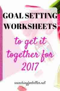 goal setting worksheets pinterest