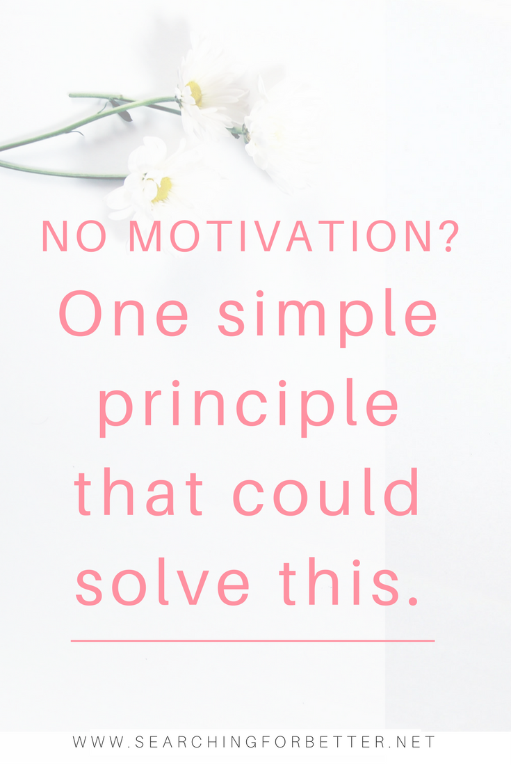 No Motivation? Here's Why And How To Fix It. If you're feeling too #depressed to do anything and seriously lacking in #motivation, this one simple #tip can help. It was great advice that helped me keep going when I felt like I had no energy left and was struggling with self doubt! #tips #inspiration #girlboss #bossbabe #momboss