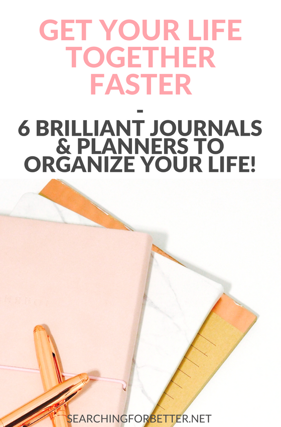 10 Amazing #Journals & #Planners To Organize Your #Life. Whether it's for #productivity or #journaling, these planners/journals are the ultimate tools to stay organized and start smashing your #goals. #planneraddicts #plannerlove #plannercommunity #journaling #organization #organizing #organize