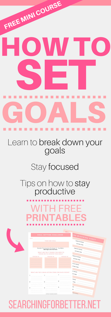 Goal Setting Course With #Free #Printable #Goal Setting #Worksheets. This is a fantastic challenge that literally works for anyone - students, teens adults or EVEN for couples. The template shows you step by step how to break down your goals and take the #action you want in your #life. #bossbabe #momboss #goalsetting #motivation #dreams #girlboss #printables