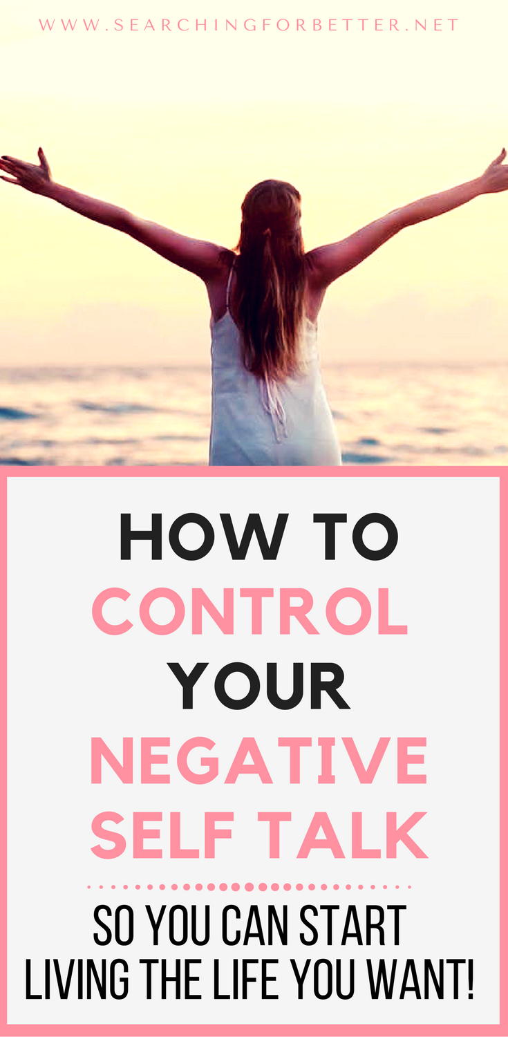 3 Steps To Control Negative Self Talk. These 3 simple steps help you to overcome negative self talk and practice more #selflove and #compassion. #mentalhealth #mentalwellness #mentalillness #depression #mind #mindset