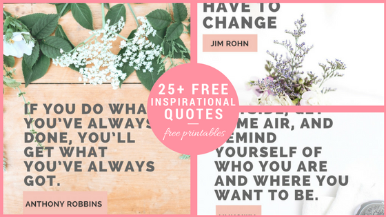 25+ Free #Printable #Inspirational Quotes. Beautiful #quotes that are easy to frame and keep in your #home or #office. They're a great way for yourself or the kids to stay motivated and positive! #quotes #quotestoliveby #inspirationalquotes #inspiration #motivation #printables #wallart #walldecor #homedecor