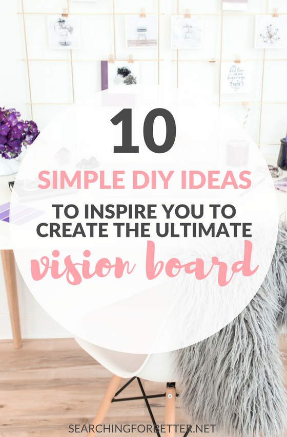 10 #Simple #DIY Vision Board Ideas. Loved these great ideas on all the ways to create a vision board for your #goals & #intentions (including a digital vision board!) They can make any space look amazing and they're seriously #motivating. #goalsetting #dreams #mindset #visionboard #officedecor #inspiration #motivation