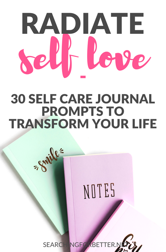 Using a #selfcare #journal is a great activity to practice #selflove. These simple self care prompts for women are a great tool for mental health. #journaling #mind #healthylifestyle #lifestyle #mindset #wellness