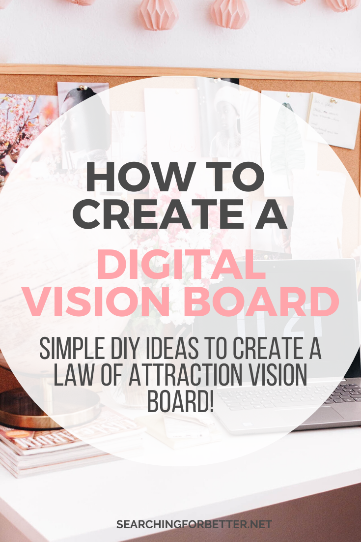 How To Create a Digital Vision Board. Find inspiration and ideas on how to create the ultimate vision board on your computer! These examples show how you can use the law of attraction to create a vision board online and manifest your dre. This step by step tutorial shows you how to put your images, goals, pictures and quotes on all in one place and print it easily! #goals #goalsetting #motivation #lawofattraction #manifestation #visionboard