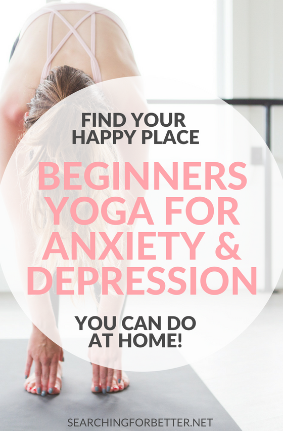 Beginners #Yoga For #Anxiety And #Depression. These beginner workout #videos are simple and easy routines (that only take 20 minutes!) that you can do at home. They can be done morning or night. Either way they can really help with anxiety, depression and stress and to help you feel #happier and more #calm. #healthy #selflove #fitness #wellness #yoga #mind #body #soul #yogainspiration