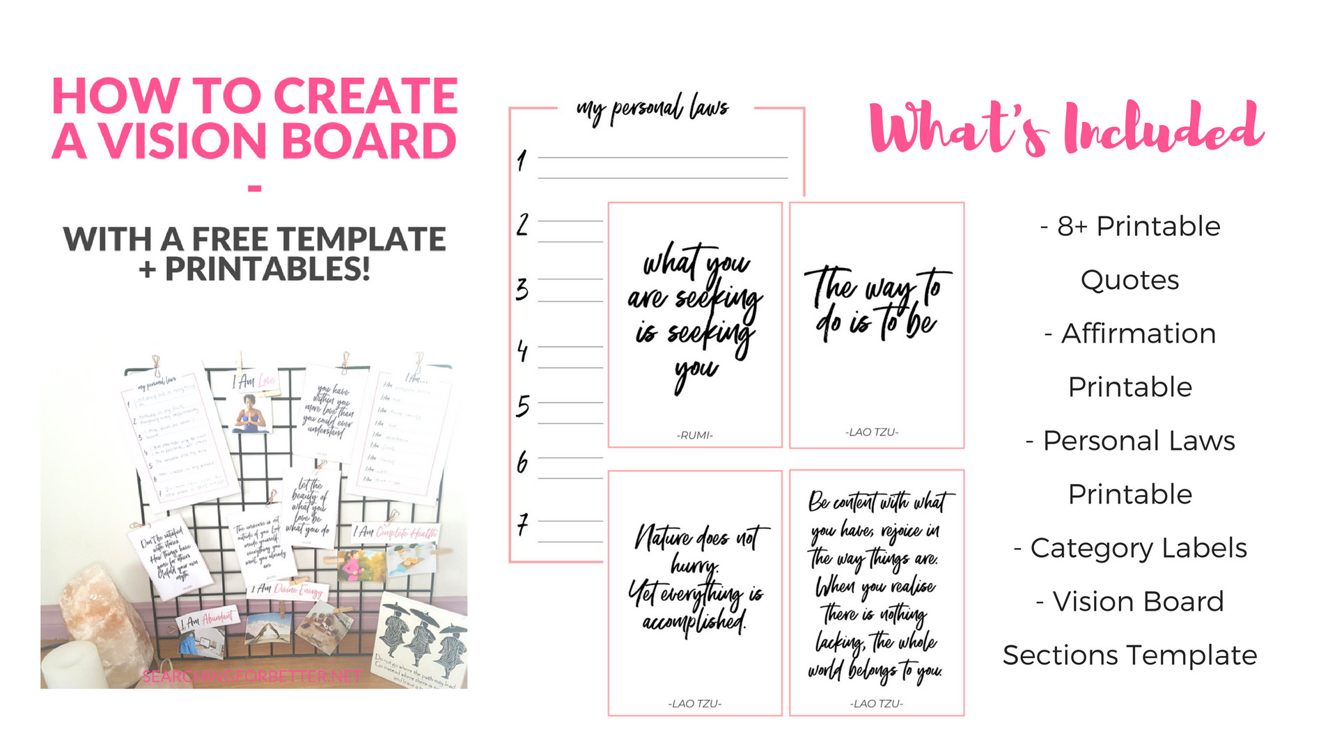 Creating A Vision Board 2020 With Free Vision Board