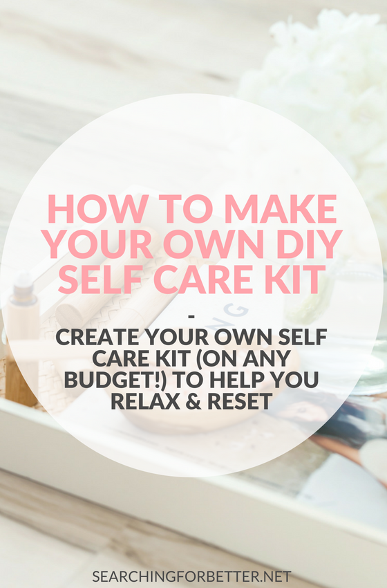 How To Create Your Own #DIY #Selfcare Kit. Fun ideas for any budget to help you create a DIY self care kit. A self care emergency kit is a must to help fight depression, anxiety or for any of those tough mental health days. Decress stress & find more happiness with these budget friendly things. #mentalhealth #mind #soul #mindset #healthy #healthylifestyle #lifestyle