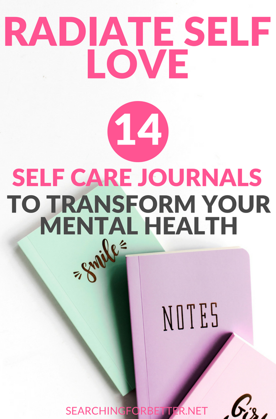 Radiate #selflove: 14 #selfcare #Journals To Transform Your Mental Health. If you're stuck for a self care routine, trying a self care #journal is a great idea! These journals are a must for the busy #bossbabe or #momboss that struggles to find time to fit in time for themselves. These journals give you so many ideas and journal prompts to work with! They're amazing for your mental health and #wellness. #mind #mindset #healthy #healthylifestyle #lifestyle #journaling