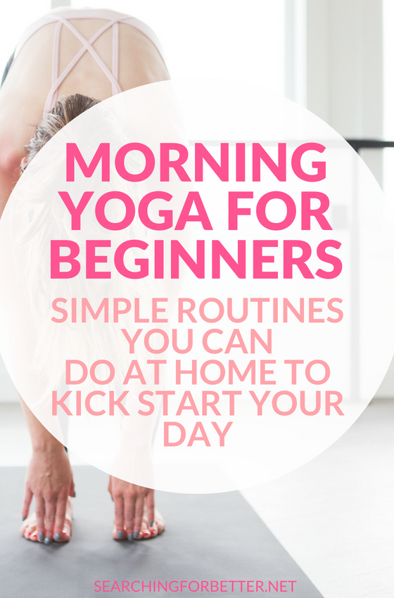 Simple Morning #Yoga Routines For Beginners. If you're a complete beginner, these videos are easy ways to start your practice at home! Mornings are a great time to start yoga as it helps promote a healthy #mindset, relaxes you and helps you start the day with a lot less stress! #yoga #yogainspiration #mind #wellness #healthy #healthylifestyle #lifestyle #fitness #fitnessmotivation