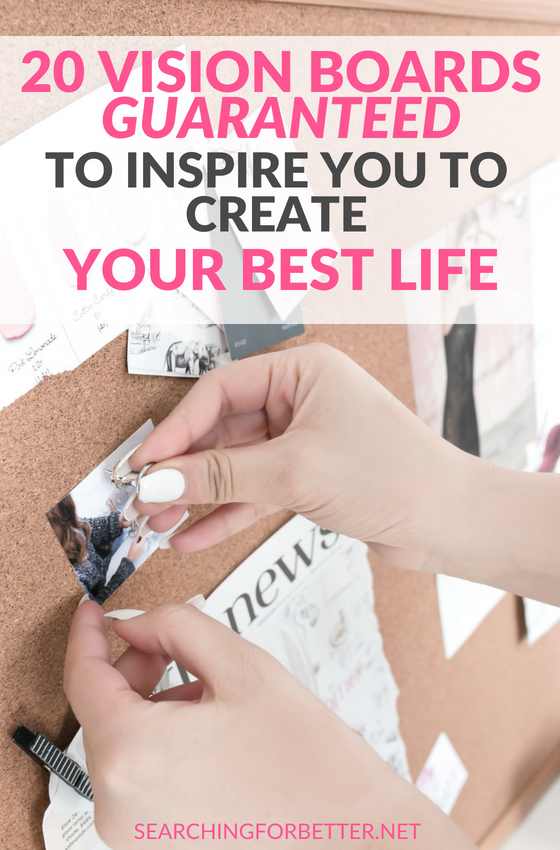 These law of attraction vision board examples are guaranteed to inspire your goal setting! They'll give you #motivation and show you how to make the ultimate vision board to make all your dreams come true. #goals #mindset #success #goalsetting #dreams #inspiration #bossbabe #momboss