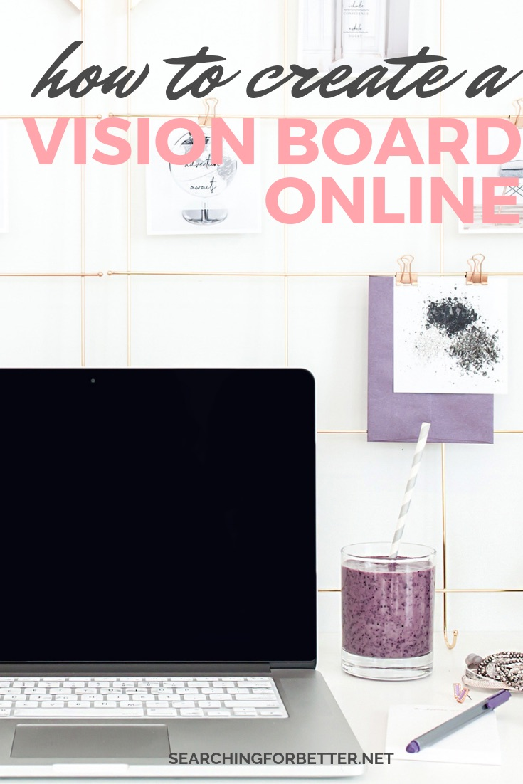 How To Create A Digital Vision Board Online. A simple tutorial on how you can DIY your vision board online. Loved that it showed an example of what a vision board can look like when you're using Canva. It makes goal setting so much easier! So if you need #inspiration on how to create a vision board that works with the law of attraction, this tutorial is definitely for you! #goalsetting #goals #visionboard #mindset #motivation