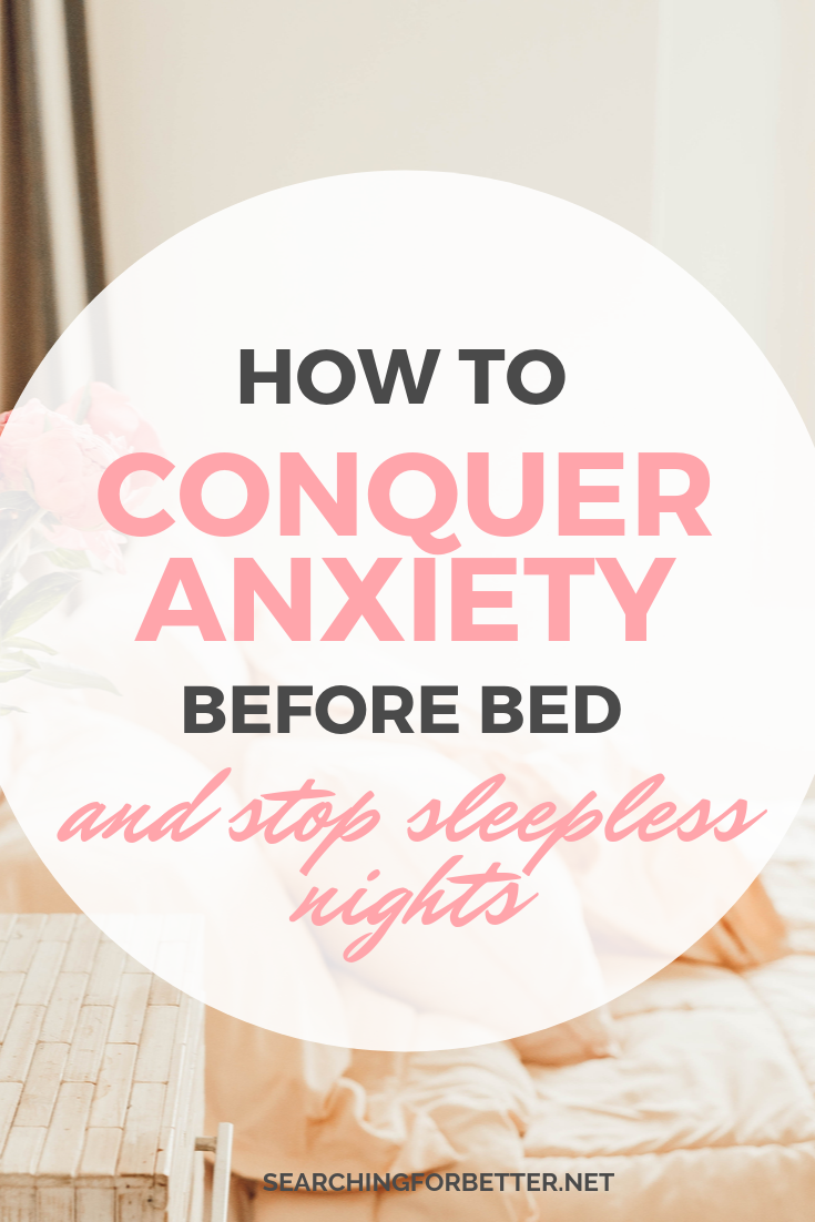 These simple tips can help with anxiety before sleep. Sometimes falling asleep can be really hard when our minds won't stop! These are remedies to help (whether you're a busy mum or boss babe) sleep better at night! #sleep #anxiety #mentalhealth #mindset