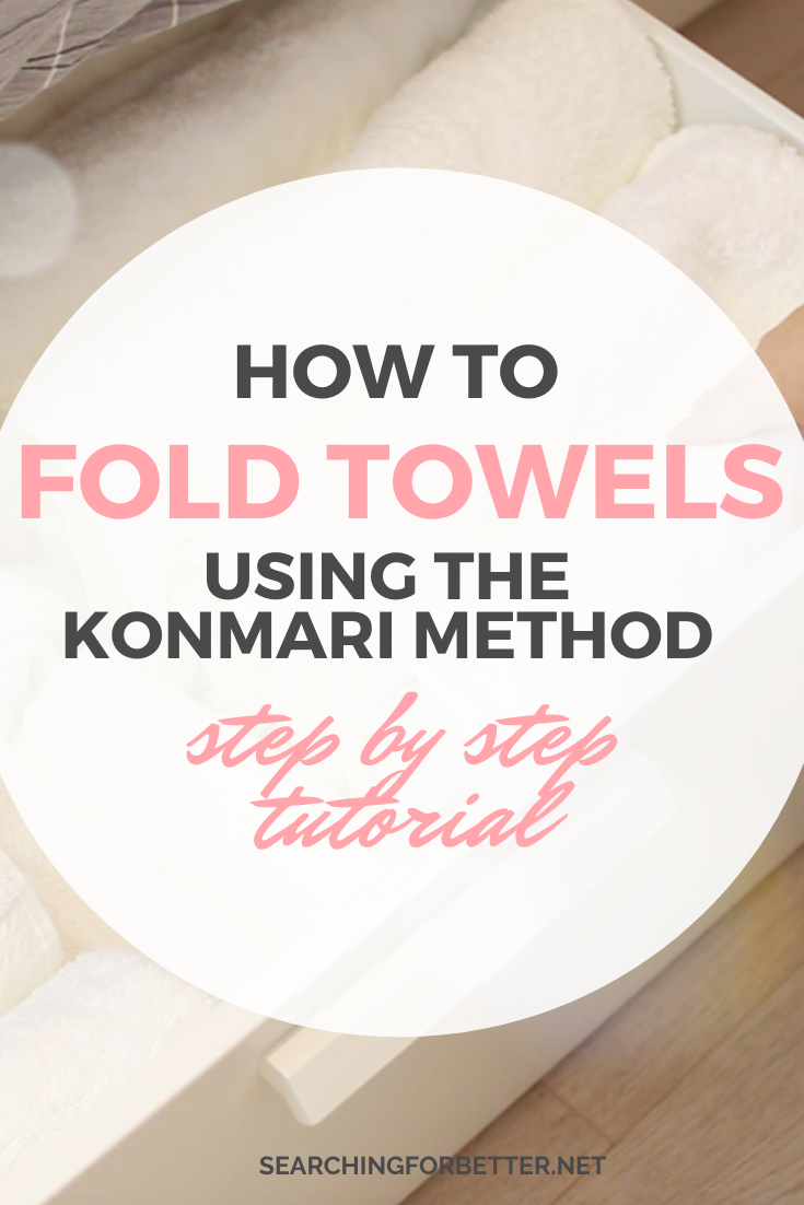 How To Fold Towels Using The Konmari Method. This is one of my favourite organizing ideas! This step by step tutorial shows you how folding the konmari towels can help clean up and organize your linen closets' but also how you can fit more towels in one place! #inspiration #organization #konmari #home