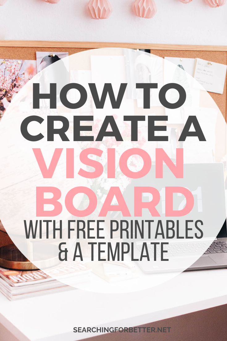 Create A Vision Board For 2020. Learn step by step how to use the law of attraction and create the ultimate vision board for your goals. These printables and template give you DIY ideas and inspiration. There's also great examples and stories of how vision boards have worked and come true! #visionboard #goals #goalsetting #dreamboards #motivation #inspiration