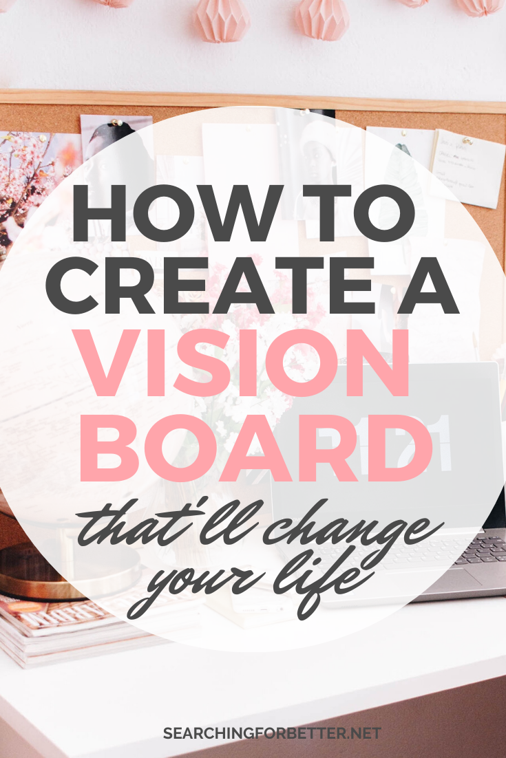 How To Create A Vision Board. These simple tips and ideas are amazing to create a succesful vision board. The law of attraction has really worked for my goals when I've created a dream board! This post shares all my examples and inspiration on how to find the best images to create a DIY vision board that helps you create the life you want. #goals #visionboard #goalsetting #personaldevelopment #lawofattraction