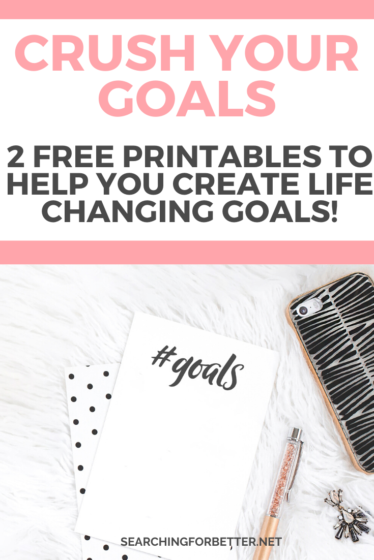 2 Free Goal Setting Printables To Get It Together for 2020. These free templates were great for my 2019 goals and I can't wait to use them for my 2020 goals too! These worksheets are amazing to break down yearly goals into monthly, weekly and daily action tasks. They work for adults and students too. #goalsetting #goals #printables #worksheets #productivity #change #mindset #personaldevelopment #selfhelp #growth