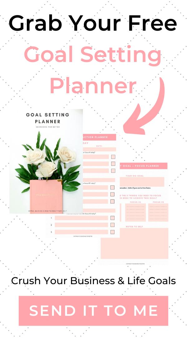 Free Goal Setting Planner Printable