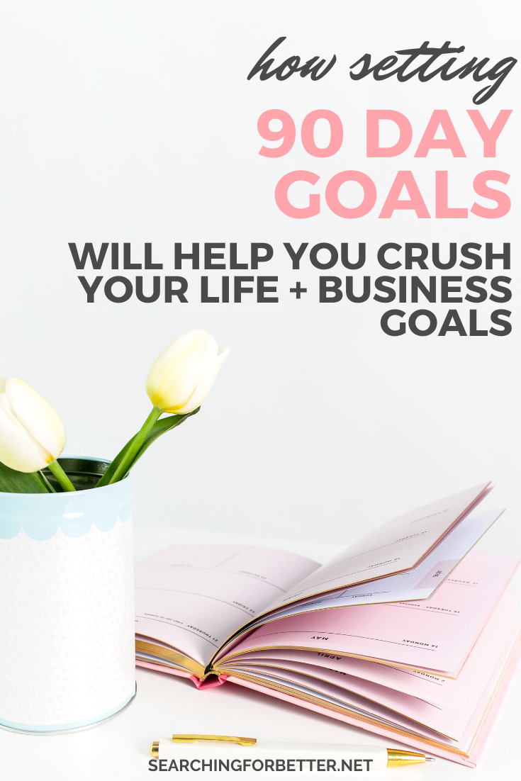 The Power Of Setting 90 Day Life Goals. Do you struggle to stay motivated with your list of goals? Planning goals and staying inspired can be really hard! This is where 90 day goals can help. Create the future of your dreams and figure out how to create the job, house, career or money that you want in your life with this whole new way of goal setting. #goals #goalsetting #personaldevelopment #lifegoals