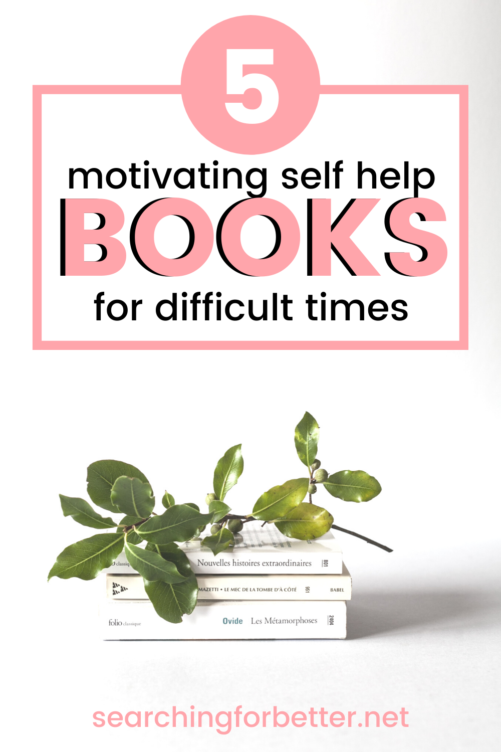 5 Personal Development Self Help Books For Difficult Times. These spiritual reads are great for teens, for moms and for men during life changing and difficult times. They will help you work through things like anger as well as motivate you to move forward. They're some of the best personal development books to guide you and help you to find happiness and peace during times of uncertainty.