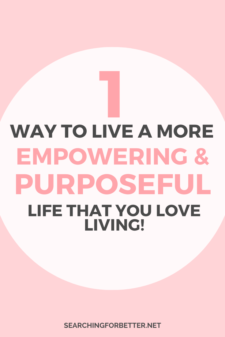 Learn how to live a more fulfilling life with this simple tip on personal power. In this epsiode I talk about how to live a more fulfilling life and how to have a more purposeful life that's true to you! These tips and advice are from my own personal journey with trying to live a more fulfilling life!