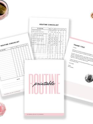 Routine Planner Printable