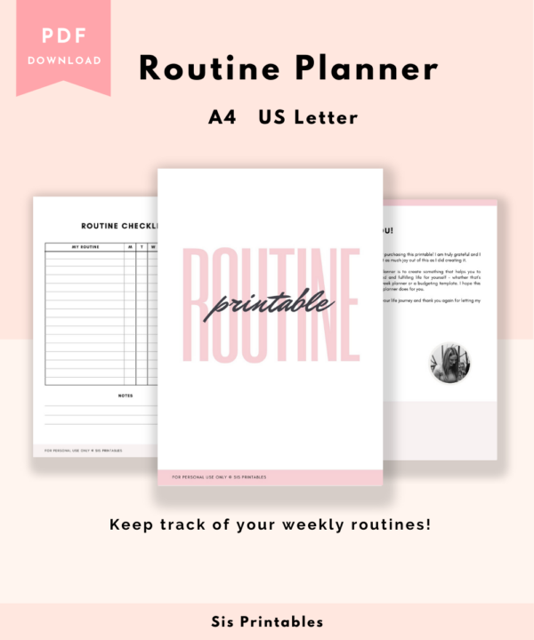 Routine Planner Tracker Printable
