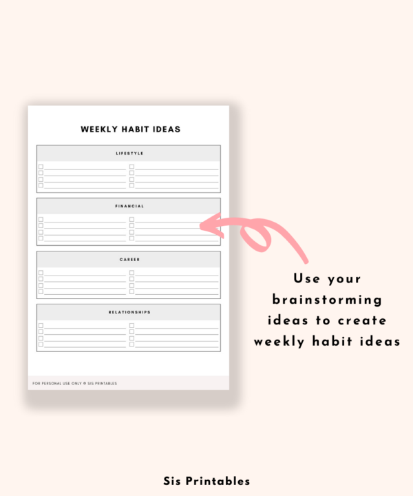 Habit Planner Tracker 14