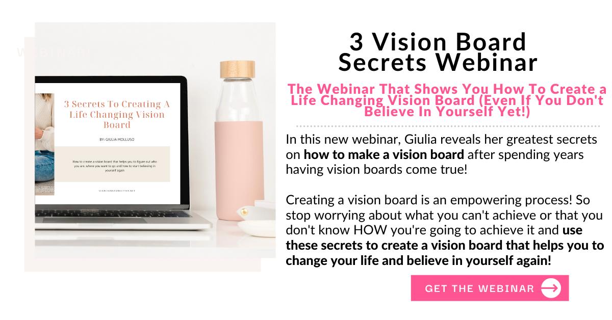 how to make a vision board webinar