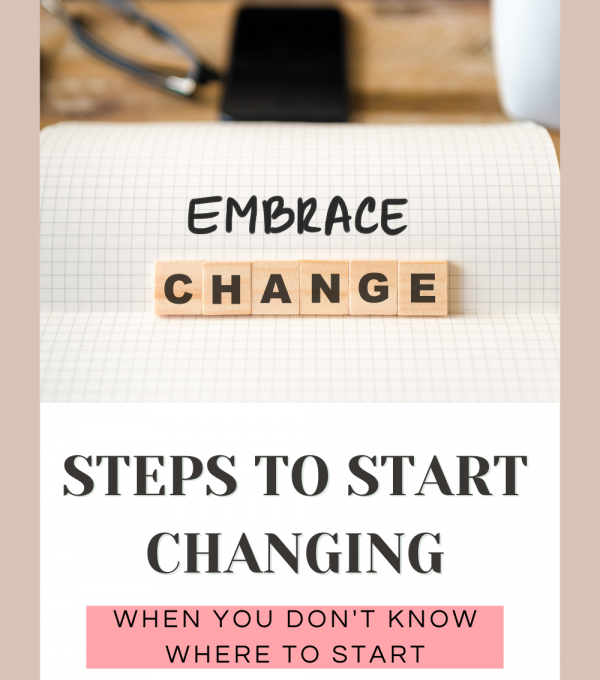 how to change my life 1